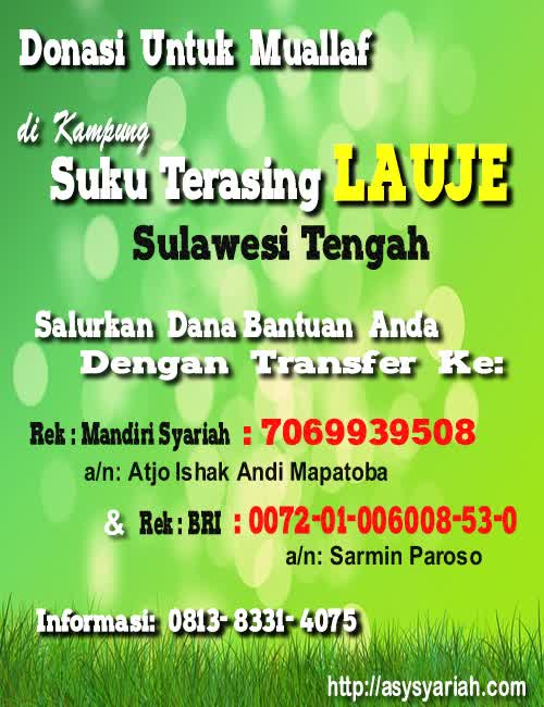 Kampung Lauje Donasi DAKWAH Grosir produsen gamis akhwat sulam pita syaamil jilbab cadar safar purdah bagus murah solo