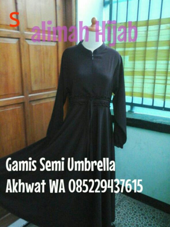 Gamis Salimah Semi Umbrella Jetblack Salimah Gallery Solo