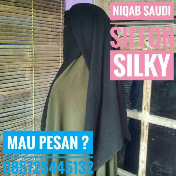 foto jual grosir niqob saudi siffon arab murah solo