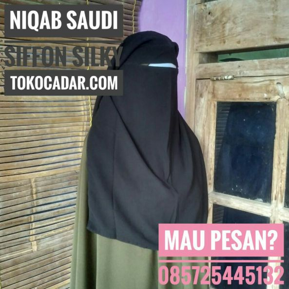 produsen niqab cadar saudi 3 layer sifon silky solo