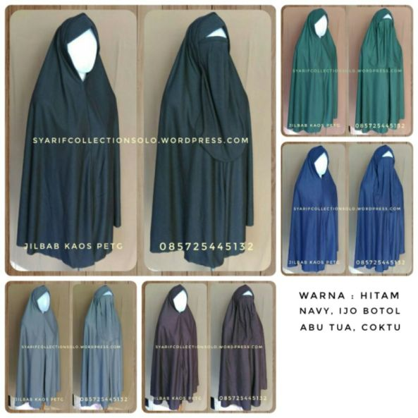 grosir produsen jilbab kaos cadar tali murah