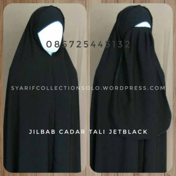 grosir produsen jilbab akhwat jetblack murah